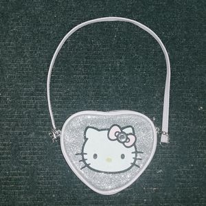 Hello Kitty Heart Shaped Small Shoulder Bag Purse